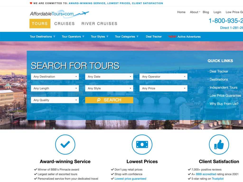 Travel Company Web Design and Development
