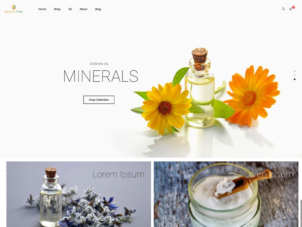 Essential Oil eCommerce Design
